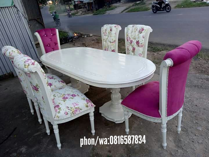 Set Kursi Makan Sofa Cat Duco