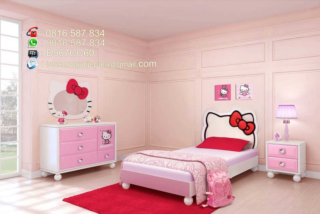 Set Kamar Anak Hello Kitty Warna Pink